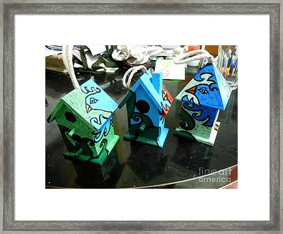 Painted Birdhouses Framed Print by Genevieve Esson