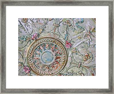 Painted Ceiling Medallion 32inch Framed Print by Lizi Beard-Ward