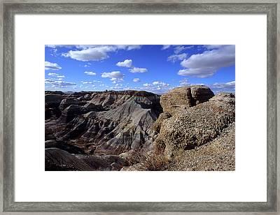 Painted Desert Blue Sky Framed Print