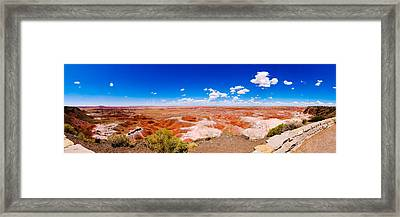 Painted Desert Panorama Framed Print by David Waldo