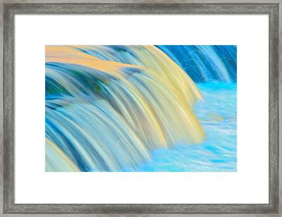 Painted Falls Framed Print