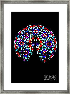 Framed Print featuring the photograph Painted Glass by Randall  Cogle