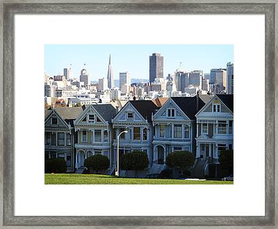 Painted Ladies Framed Print by Linda Woods