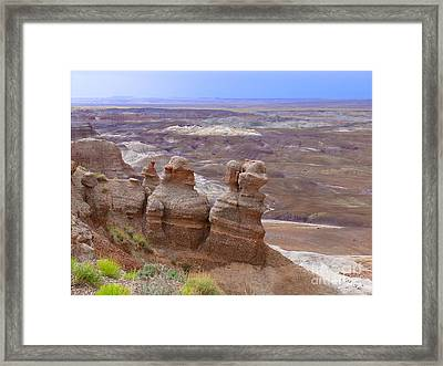 Painted Landscape Framed Print by Jeanne  Woods
