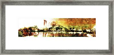 Framed Print featuring the digital art Painted Nightlife by Andrea Barbieri