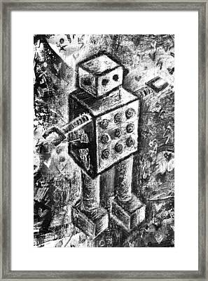 Painted Robot 1 Of 6 Framed Print