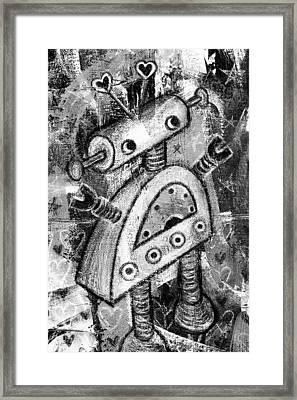 Painted Robot 2 Of 6 Framed Print