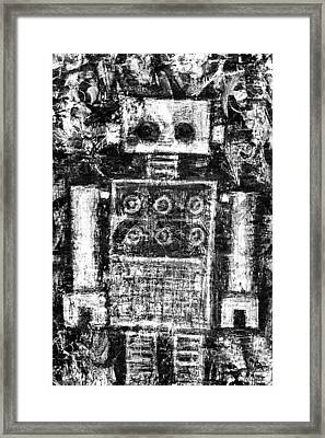Painted Robot 3 Of 6 Framed Print