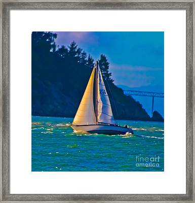 Painted Sails Framed Print