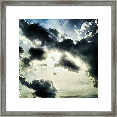 #painted #sky #instadroid #andrography Framed Print by Kel Hill