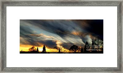 Painted Sky Over Denmark Framed Print by Michael Canning