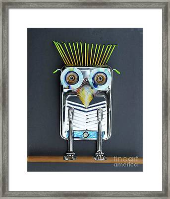Painter Owl Framed Print by Bill Thomson