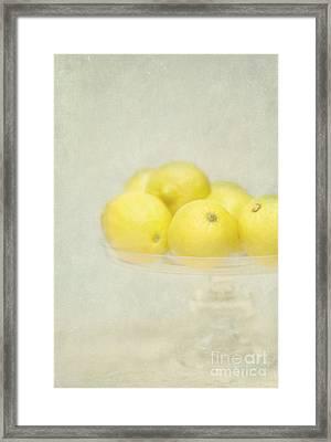 Painterly Lemons Stilllife Framed Print