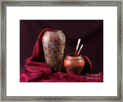 Painterly Pots Framed Print