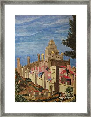 Painting   Medieval City Framed Print by Judy Via-Wolff