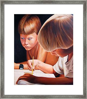 Framed Print featuring the painting Painting by AnnaJo Vahle
