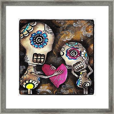 Painting By #abrilandrade Framed Print