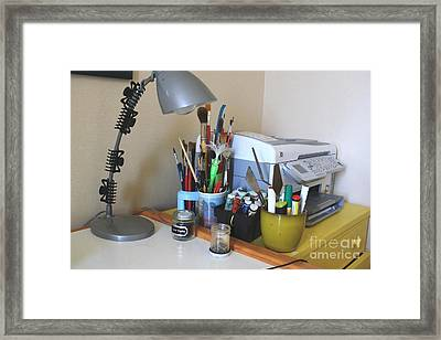 Painting Gear By Printer Framed Print