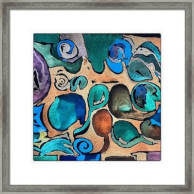 Circles Of Colors.... Framed Print