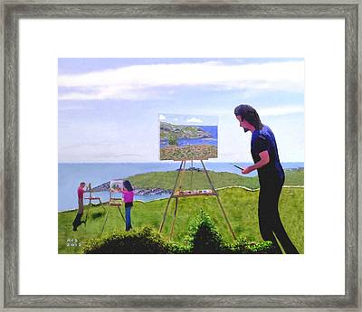 Painting Manana  Framed Print