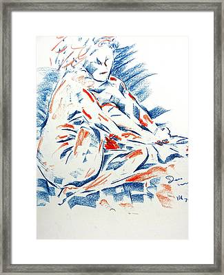 Framed Print featuring the drawing Painting Nails by Brian Sereda