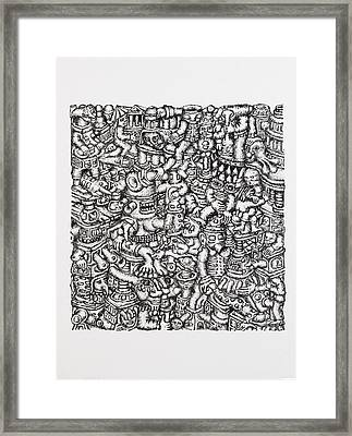 Painting Number 18 Framed Print by Eric  Weets