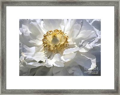 Painting Of A White Flower Framed Print by Jerry L Barrett