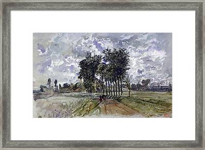 Painting Of Countryside Framed Print by Photos.com