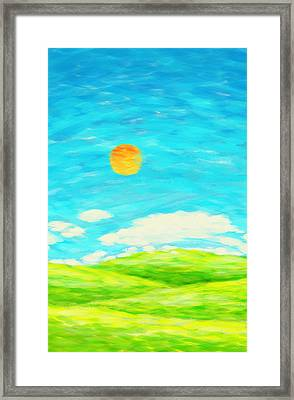 Painting Of Nature In Spring And Summer Framed Print by Setsiri Silapasuwanchai