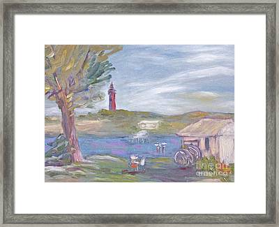 Painting Plein Air By The River Framed Print