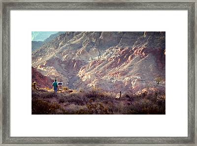 Painting Red Rock Framed Print by Cody Boor