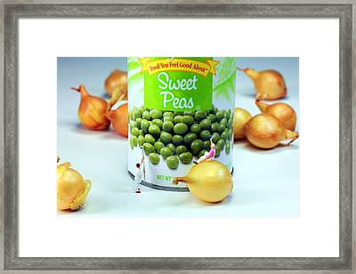 Painting Sweet Peas Poster Framed Print by Paul Ge
