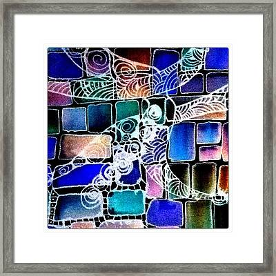 Painting The Old Bricks With Happiness Framed Print