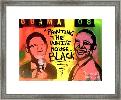 Painting The White House Black Framed Print