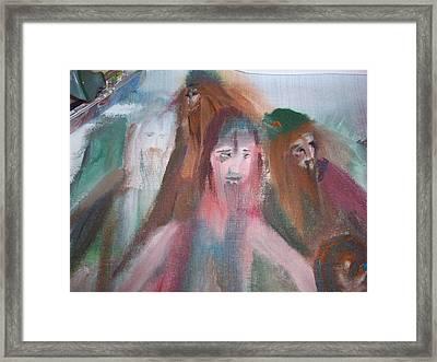 Painting Vikings Framed Print by Judith Desrosiers