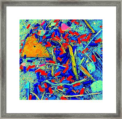 Painting With Debris Framed Print by Randall Weidner