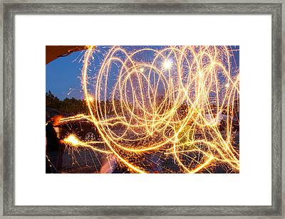 Painting With Sparklers Framed Print by Gordon Dean II
