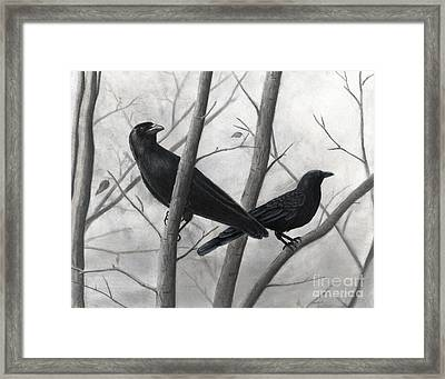 Pair Of Crows Framed Print