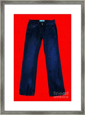 Pair Of Jeans 2 - Painterly Framed Print by Wingsdomain Art and Photography