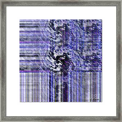 Paisley And Plaid Framed Print by Leslie Revels Andrews