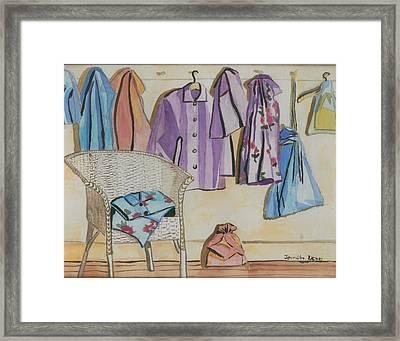 Pajamas Framed Print by Jennifer Dewey
