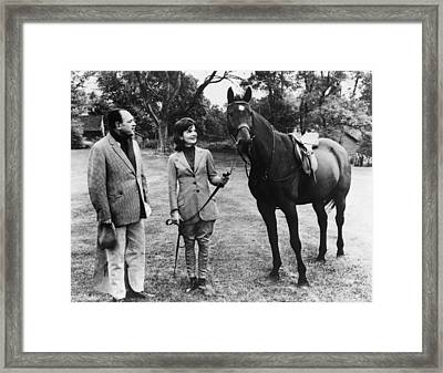 Pakistani President Ayub Khan And First Framed Print by Everett