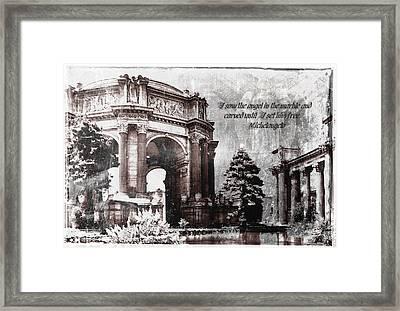 Palace Of Fine Arts Rotunda Framed Print