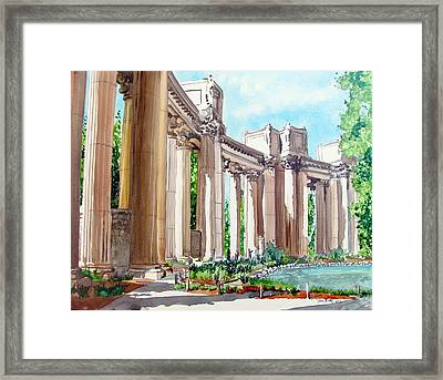 Framed Print featuring the painting Palace Of Fine Arts by Tom Riggs