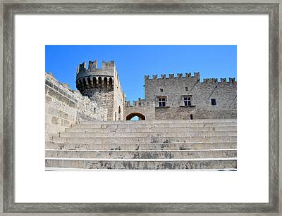 Palace Of Grand Masters. Rhodes. Greece. Framed Print