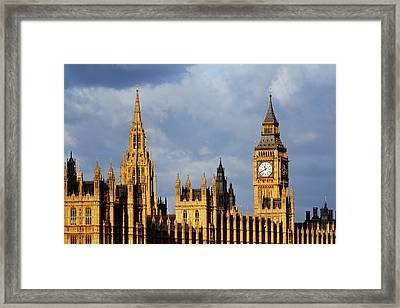 Palace Of Westminster In Winter Sunlight Framed Print by Christopher Hope-Fitch