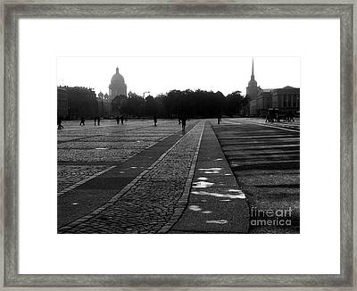 Palace Square In Saint Petersburg Framed Print