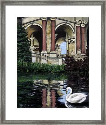 Palace Swan Framed Print by Lisa Reinhardt