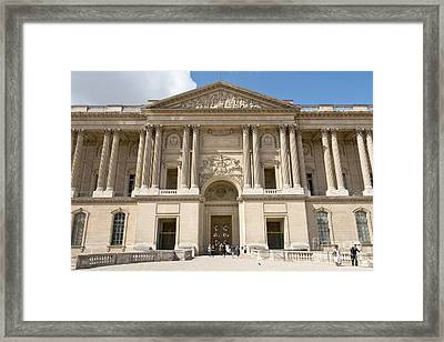 Palais Du Louvre I Framed Print by Fabrizio Ruggeri