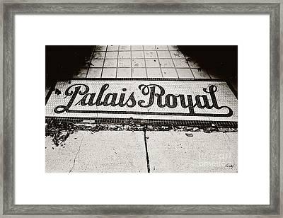 Palais Royal Framed Print by Scott Pellegrin